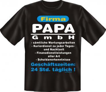 T-Shirt - Firma Papa GmbH - Geburtstag Vatertag Fun Shirts Geschenk bedruckt