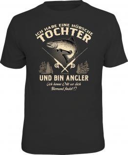 Vatertag T-Shirt Angler und hübsche Tochter Angel Shirt Geschenk geil bedruckt