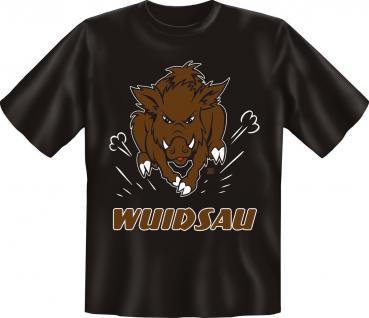 T-Shirt Wuidsau Schwein Wildschwein Fun Shirts Geburtstag Geschenk geil bedruckt