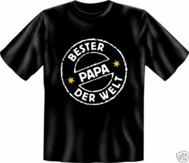 bedruckte T-Shirts Shirt - Bester Papa der Welt - Geburtstag Vatertag Geschenk