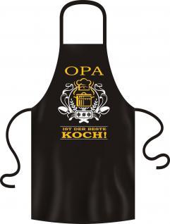Grillschürze Opa ist der beste Koch Schürze Bistro Kochschürze geil bedruckt