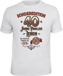Geburtstag T-Shirt - Sonderedition 40 Jahre pralles Leben - Exemplar von 1980