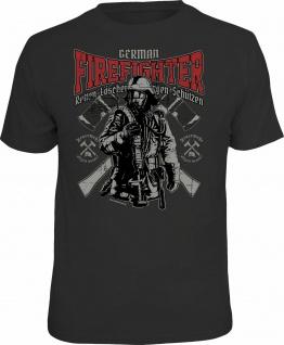Feuerwehr T-Shirt German Firefighter Shirt 4 Heroes Geschenk geil bedruckt