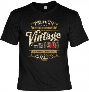 Geburtstag T-Shirt - 40 Jahre 100% Premium Vintage seit 1981 Fun Shirt Geschenk