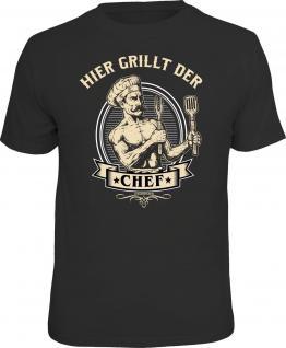 Grill T-Shirt Hier grillt der Chef Shirt bedruckt Geburtstag Geschenk bedruckt