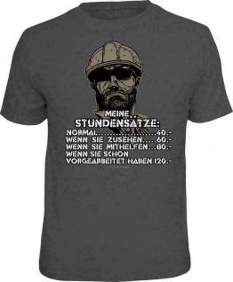 Fun T-Shirt Sprüche - Meine Stundensätze - Männer Geschenke T Shirts 4 Heroes