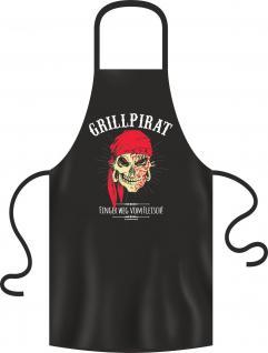 Grillschürze Grillpirat Grill Koch BBQ Schürze Geschenk geil bedruckt