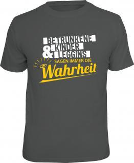 Fun T-Shirt Betrunkene Kinder und Leggins Shirt Geschenk geil bedruckt