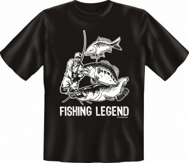 Angler T-Shirt Fishing Legend Angel Fun Shirts Geburtstag Geschenk geil bedruckt