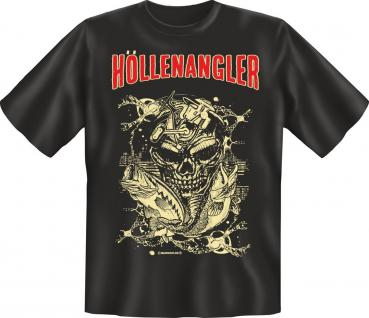 Angler Geburtstag T-Shirt Höllenangler Angel Shirt Geschenk geil bedruckt