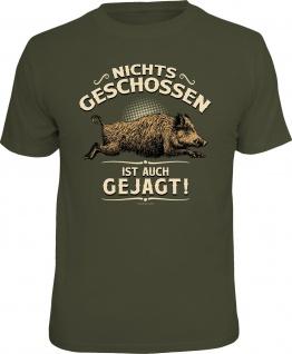 Herren T-Shirt bedruckt - Nichts geschossen - lustige Geschenke für Männer