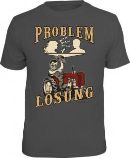 Herren T-Shirt bedruckt - Problem Lösung Traktor - lustige Geschenke für Männer