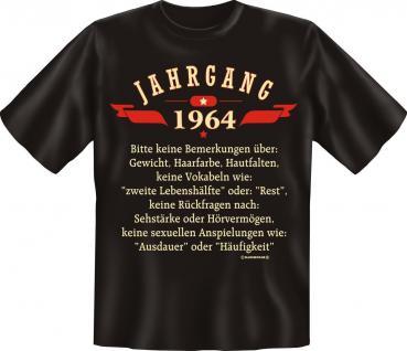 Geburtstag T-Shirt - Jahrgang 1964 - Fun Shirt Geschenk geil bedruckt