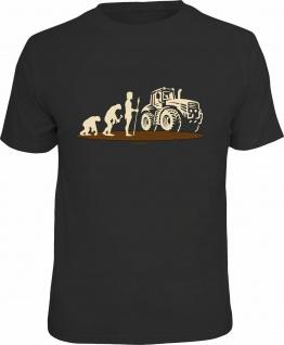 Fun T-Shirt - Evolution Bauer Traktor - Männer Geschenke Shirts 4 Heroes