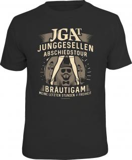 Junggesellenabschied T-Shirt JGAT Bräutigam in Freiheit Shirt geil bedruckt