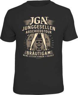 Junggesellenabschied T-Shirt JGAT Bräutigam in Freiheit Shirt geil bedruckt - Vorschau