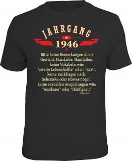 Geburtstag T-Shirt Jahrgang 1946 Fun Shirt 4 Heroes Geschenk geil bedruckt