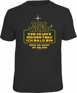 Junggesellenabschied T-Shirt - Das wars - Der Sklave meiner Frau - Fun-Shirts