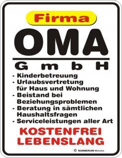 lustige Kühlschrankmagnet Firma Oma GmbH Kühlschrank Magnet Fun Schild Metall