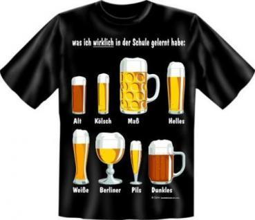 geil bedruckte Fun T-Shirts Shirt - Bier Schule - Geburtstag Spass Geschenk