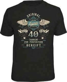 Geburtstag T-Shirt - 40 Jahre zur Perfektion gereift - Fun Shirt Geschenk