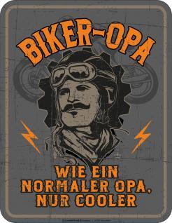 Geburtstag Blechschild Cooler Biker Opa Geschenk Schild Alu geprägt bedruckt
