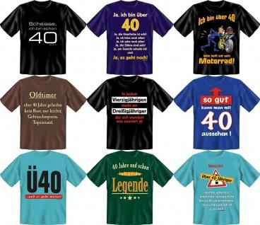 Fun Collection T-Shirt 40 Jahre Vierzig Shirt 40ter Geburtstag Auswahl bedruckt