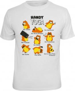 Fun T-Shirt Hamster Handy Yoga Smartphone Shirt Geschenk geil bedruckt