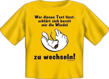 Baby T-Shirt - Die Windel wechseln - Baby-Shirt Geschenk Shirts lustig bedruckt