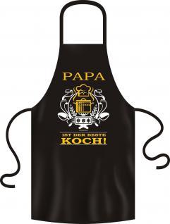 Grillschürze Papa ist der beste Koch Schürze Bistro Kochschürze geil bedruckt