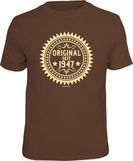 Geburtstag T-Shirt 70 Jahre - Original seit 1947 Fun Shirt Geschenk bedruckt