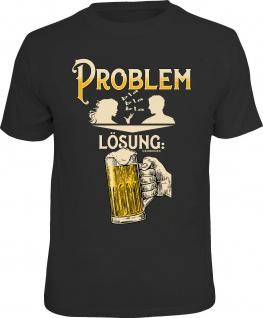 lustiges Herren T-Shirt - Problem Lösung Bier - Männer Geschenke Fun Shirts
