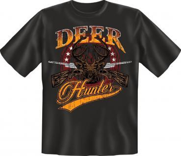 Jäger Geburtstag T-Shirt Deer Hunter Jagd Shirt Weidmann Geschenk geil bedruckt