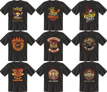 Griller T-Shirt Barbeque Grill BBQ Shirt Geburtstag Geschenk Auswahl bedruckt