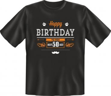 Geburtstag T-Shirt Happy Birthday Best Age 50 Jahre Shirt Geschenk geil bedruckt