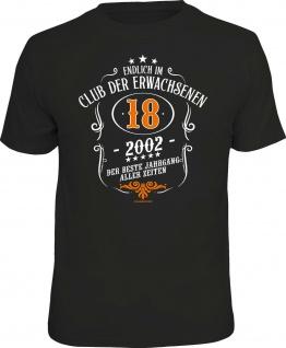 Geburtstag T-Shirt - 18 Jahre - 2002 - Der beste Jahrgang - Fun Shirt Geschenk