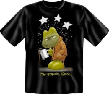geil bedruckte Fun T Shirts T-Shirt - The Morning after - Geburtstag Geschenk