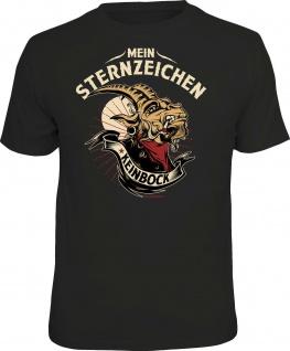 Herren T-Shirt bedruckt - Sternzeichen Keinbock - lustige Geschenke für Männer