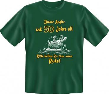 Geburtstag T-Shirt Dieser Angler ist 50 Jahre alt Angel Shirt Geschenk bedruckt