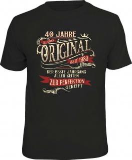 lustiges Geburtstag T-Shirt - 40 Jahre Original seit 1980 Herren Shirt Geschenk