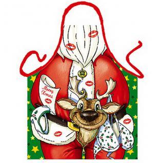 Grillschürzen - Weihnachtsmann Rentier - Vorschau 1