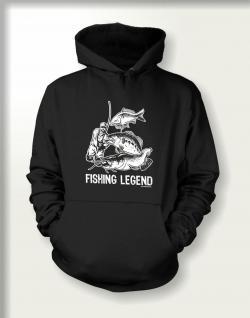 Angler Sweatshirt mit Kapuze - Fishing Legend