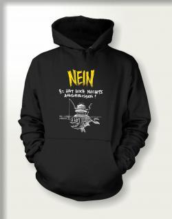 Angler Sweatshirt mit Kapuze - Noch nichts angebissen