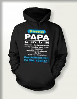 Vatertag Kapuzen-Sweatshirt - Firma Papa GmbH
