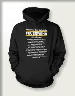 Sweatshirt mit Kapuze - Anzeichen für Feuerwehr