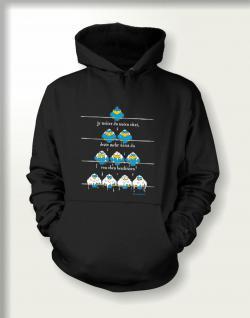 Sweatshirt mit Kapuze - Von oben beschissen