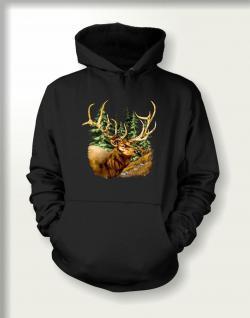 Jäger Sweatshirt mit Kapuze - Hirsch
