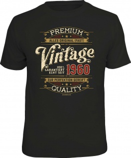 Geburtstag T-Shirt - 60 Jahre 100% Premium Vintage seit 1960 Fun Shirt Geschenk