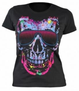 Lady Shirt Neon Skull Shirts 4 Girls Girlie T-Shirt Geburtstag Geschenk bedruckt