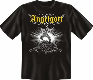 Angler T-Shirt - Angelgott - Angel Fun Shirts Geburtstag Geschenk geil bedruckt